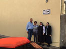 Inauguration of the square Robert Funk at the Day Centre in Bucharest